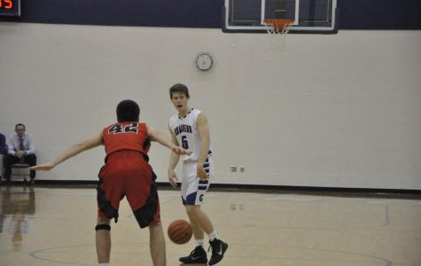 Seen here last year against Warsaw, Junior Dan McKeeman will play a major role on this year's squad. Dan averaged just under 8 PPG last season. Photo by Kylee Hoot of The Cavalier