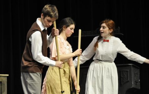 Mary Poppins warms stage, school