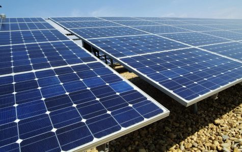 Administrators are looking into renewable energy on the planned new elementary school. These are installed at Vandenberg Air Force Base in California. Photo from Creative Commons