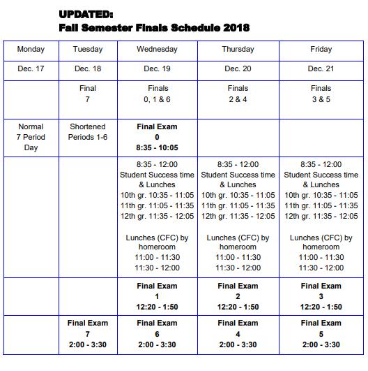 School experiments with new finals schedule