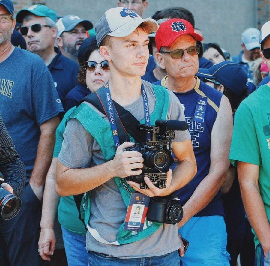 Giszewski looks on during a recent Notre Dame football game