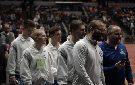 The wrestling team sent four wrestlers to the state finals in 2018. File photo.