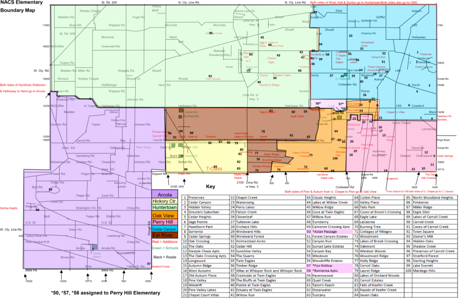 The+current+elementary+school+boundary+map+for+the+district.+The+graph+in+the+bottom+right+corner+shows+the+included+neighborhoods+in+each+boundary.