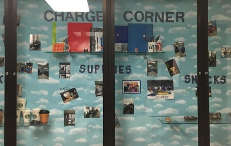 The Charger Corner serves coffee, snacks and school supplies Mondays, Tuesdays and Fridays in the Commons. The store is open from 8:10 to 8:30 a.m.