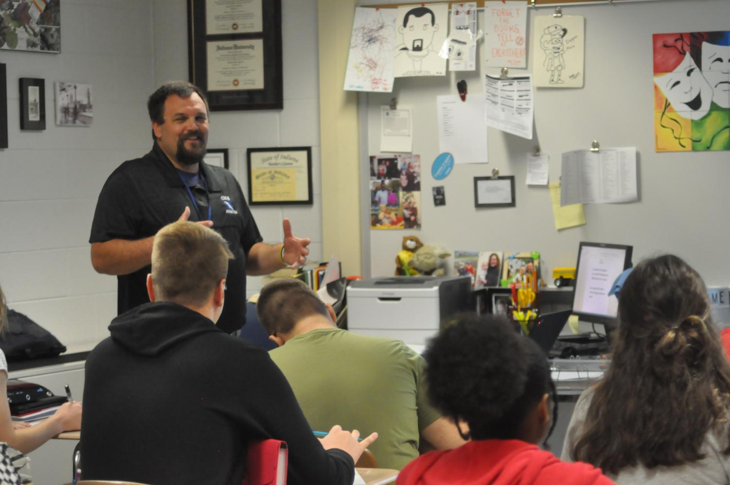 Mr. Smith teaches Novels class. It is the new course's second year as an additional English option for seniors.