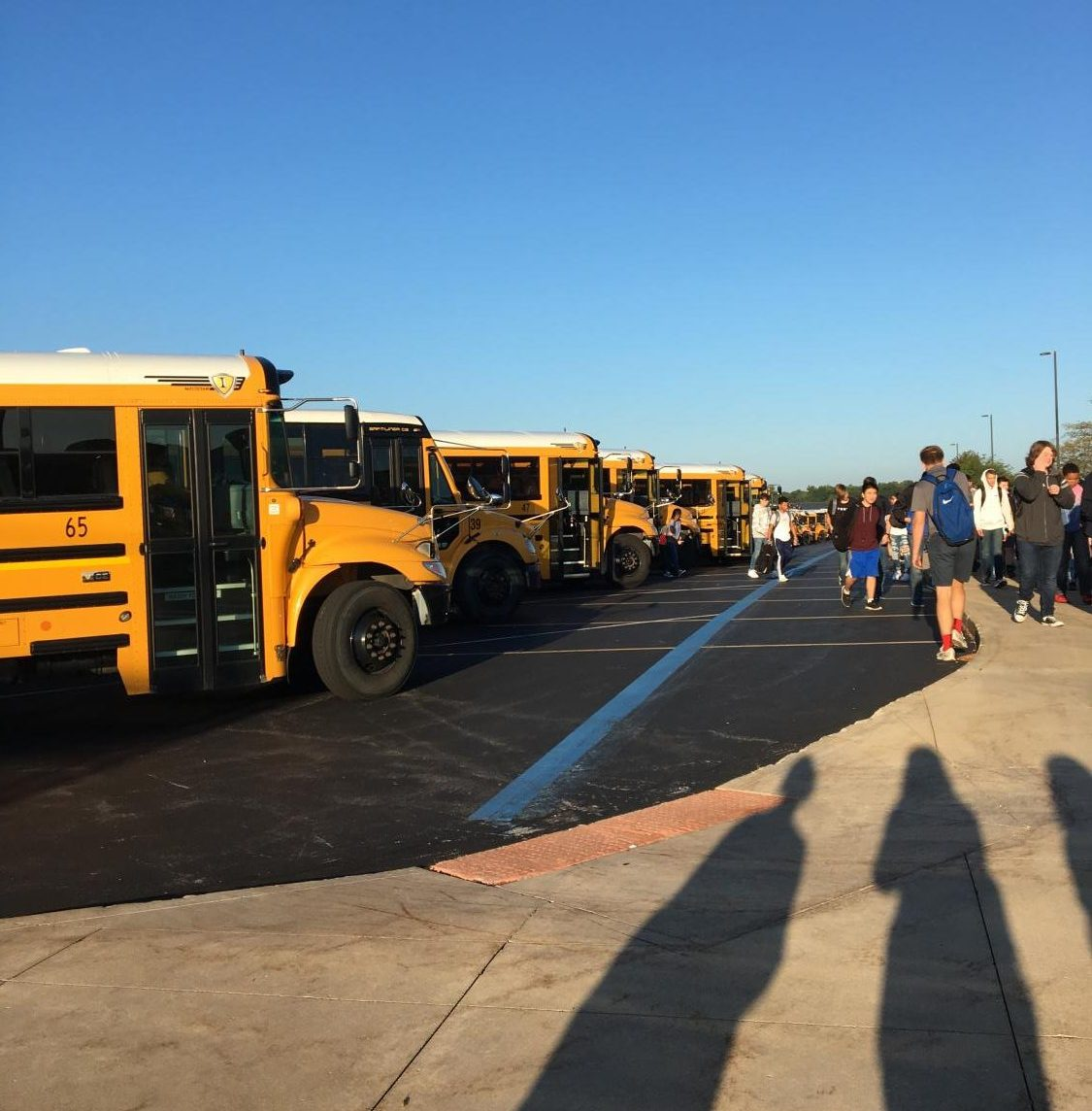 Bus safety is a primary concern for the new traffic regulations around the district. Photo by Kayleigh Lambert.