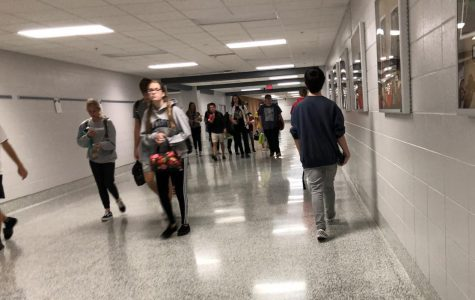Students rush to beat the seven minute timer