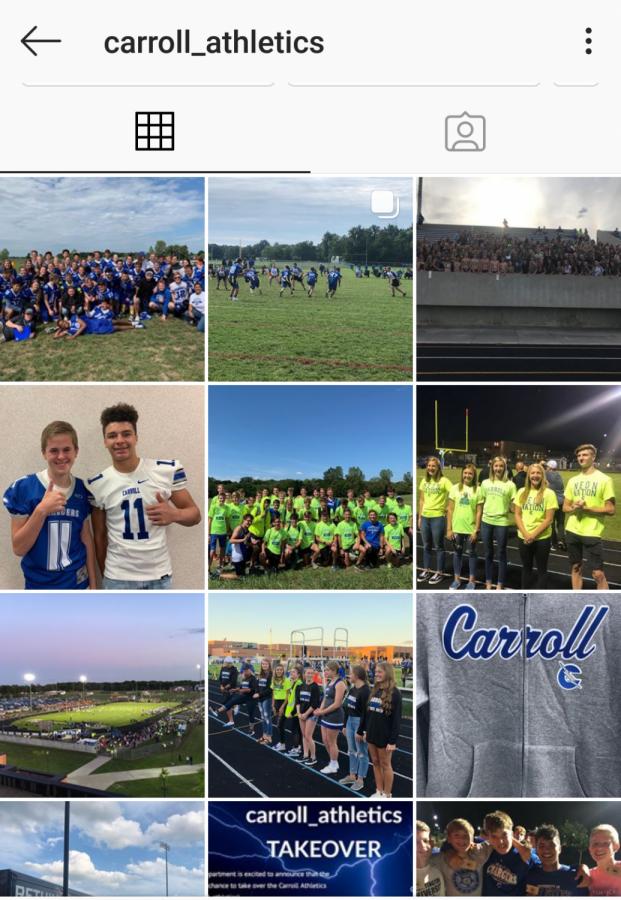 Fall sport teams take over Instagram