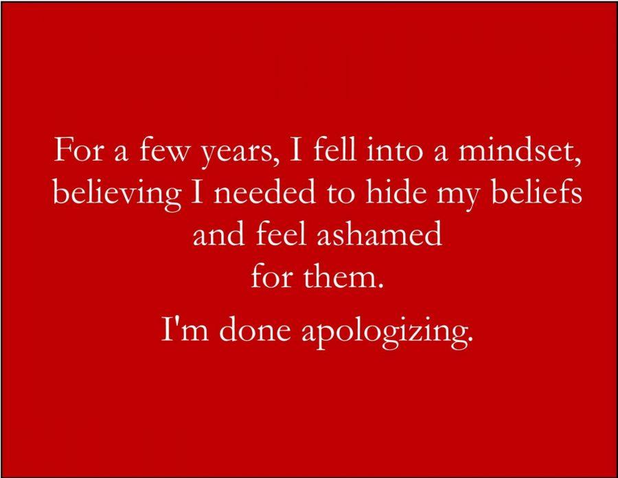 I'm Done Apologizing