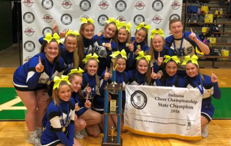 Carroll's competitive cheer team who won first at state last year. Photo from Carroll's school website.