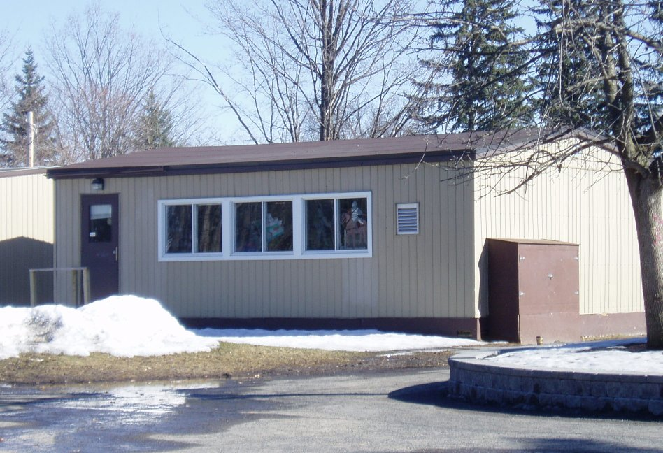 This portable classroom used at Huntertown Elementary will be going away when the new elementary school, Aspen Meadows, is completed in 2020.
