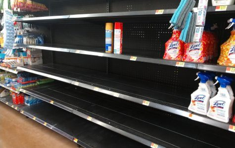 Disinfectants have been cleared off shelves of local Walmart on Lima Road as community prepares for possible outbreak