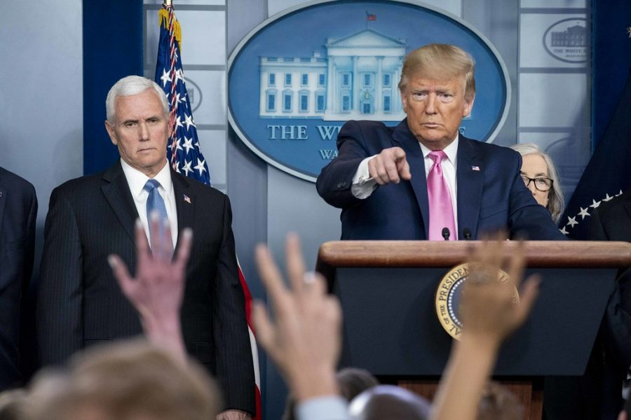 President Donald Trump and Vice President Mike Pence hold a press conference daily to talk about the coronavirus.