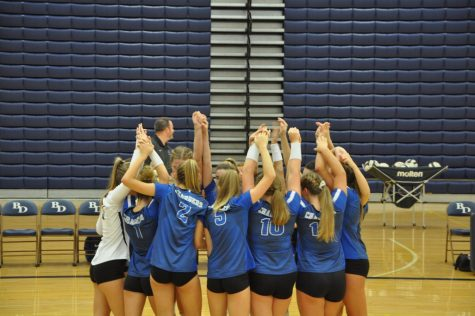 Volleyball team sets highest of goals