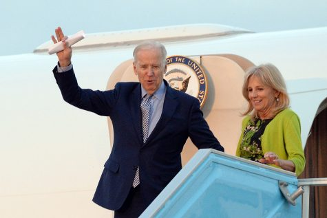 Then Vice President Joe Biden visits Israel March 2016 with his wife, current First Lady Dr. Jill Biden.  Arrival at BGAP