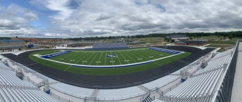 Students will fill these stands for the first game ever at the new football stadium.