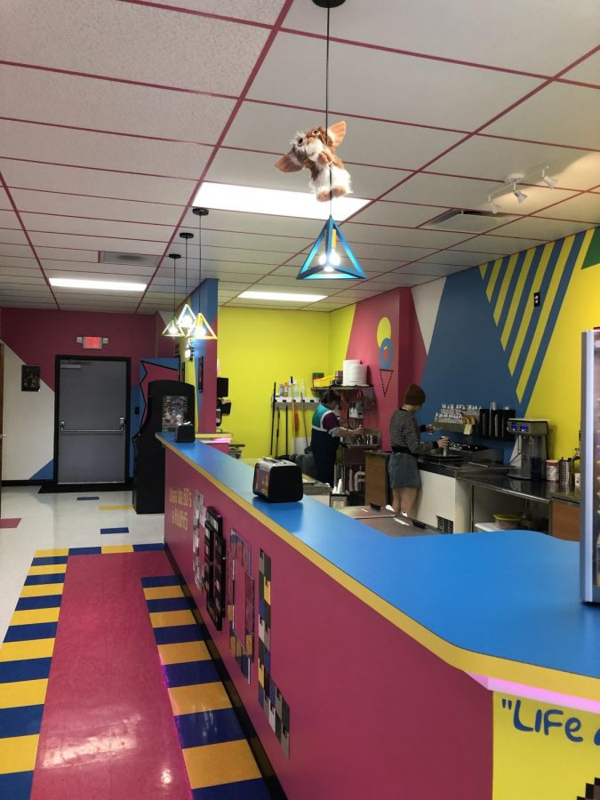Rustys ice cream displays fun décor