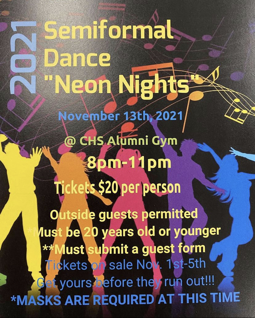 Semiformal flyer posted by student council on Instagram